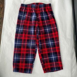 Carter's Plaid Fleece Pajama Bottoms 3T